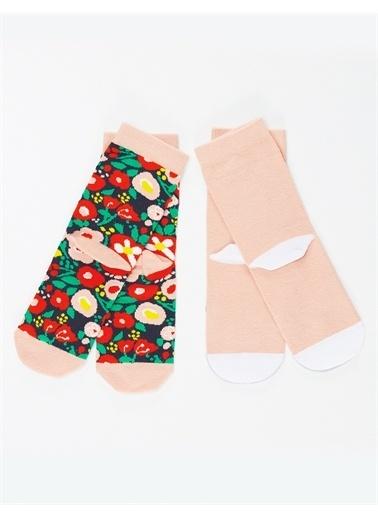 Mushi Unıcorn Real Kız Soket Çorap 2'li Renkli